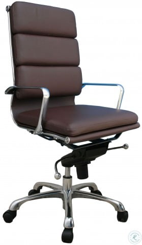 Plush Brown High Back Office Chair
