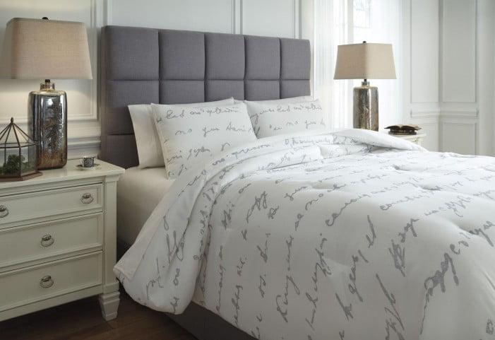 Adrianna White and Gray King Comforter Set