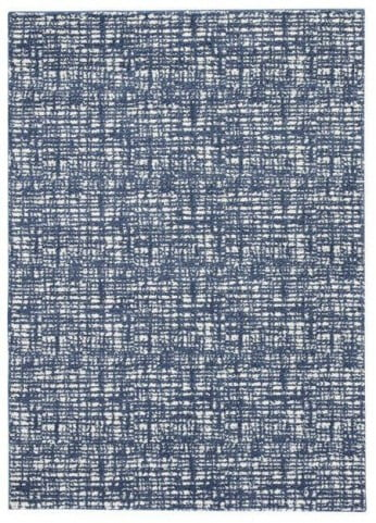 Norris Blue and White Large Rug