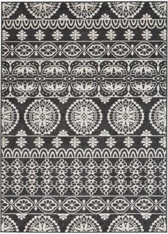 Jicarilla Black and White Large Rug