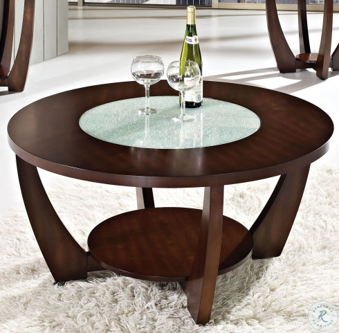 Rafael Merlot Cherry Cocktail Table with Casters