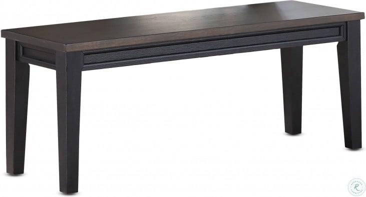 Raven Ebony And Driftwood Noir Bench