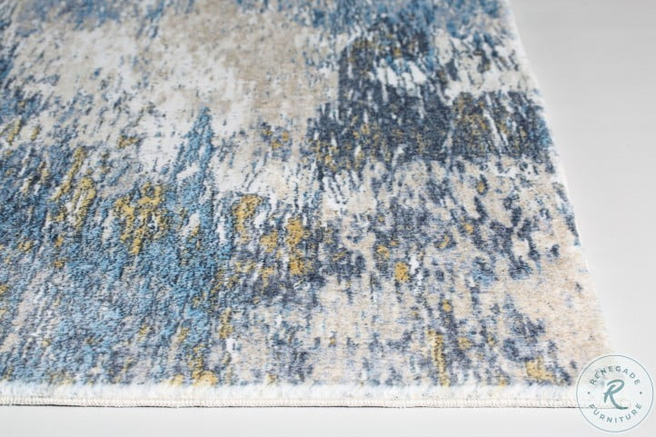 Roxy Blue And Gold Mirage Large Rug