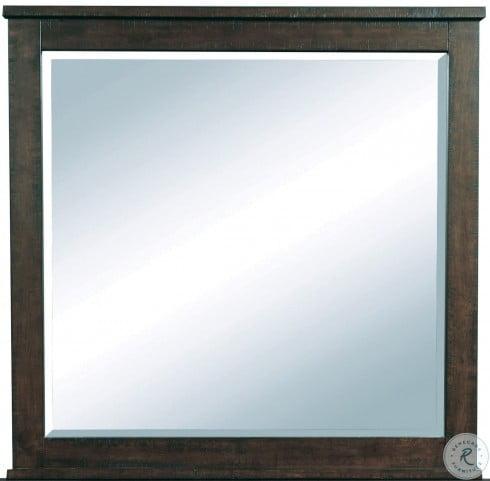 Ruff Hewn Brown Landscape Mirror