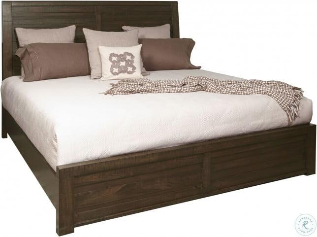 Ruff Hewn Brown Queen Panel Bed