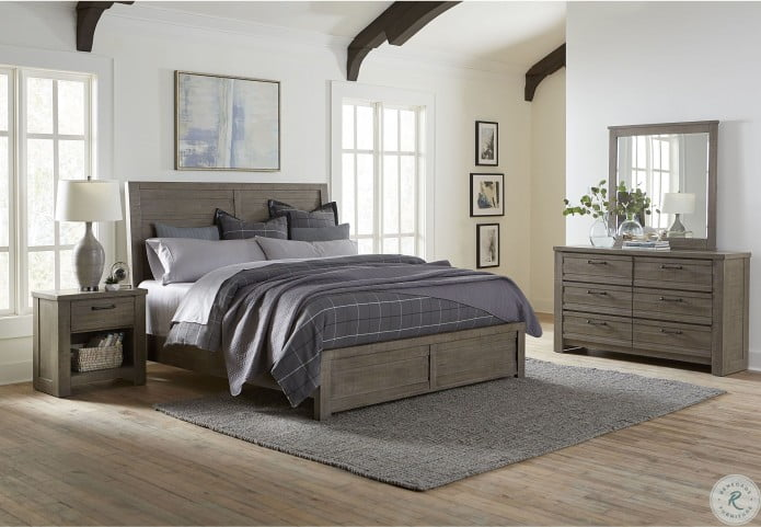 Ruff Hewn Gray Youth Panel Bedroom Set