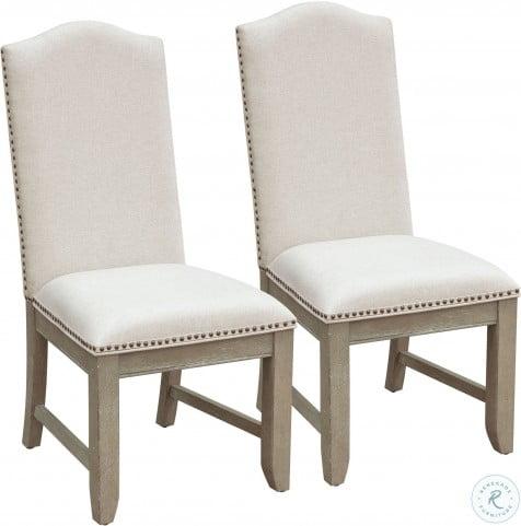 Prospect Hill Tan Upholstered Back Side Chair Set of 2