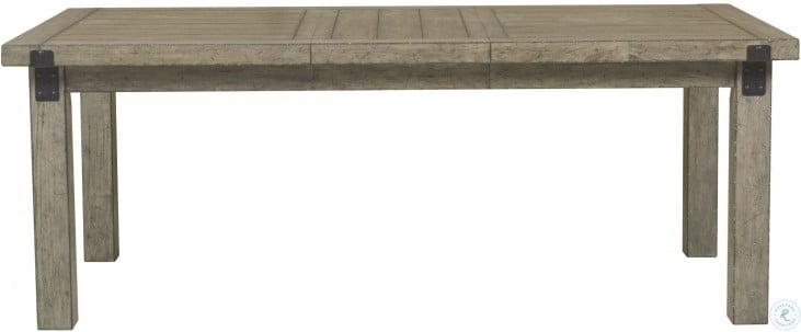 Flatbush Brown Rectangular Extendable Leg Dining Table