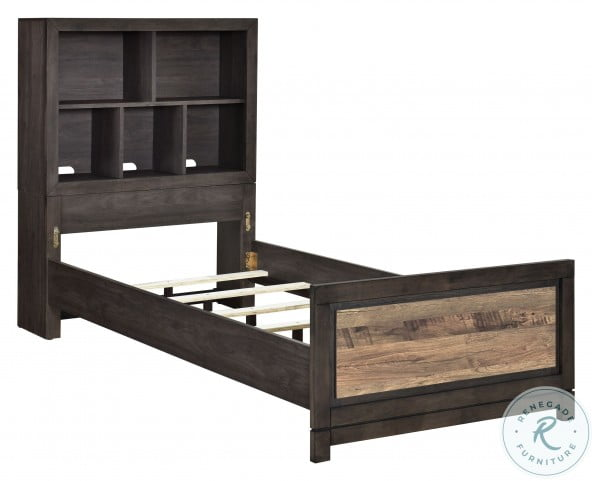 Harrison Brown Full Bookcase Bed