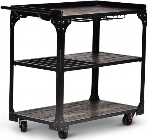 Sherlock Black and Brown Server Cart