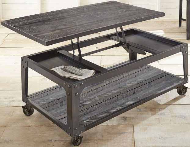 Sherlock Tobacco Lift Top Castered Occasional Table Set
