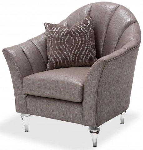Studio Maritza Brown Channel Back Chair