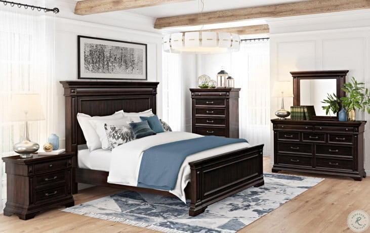 Stamford Brown King Panel Bed