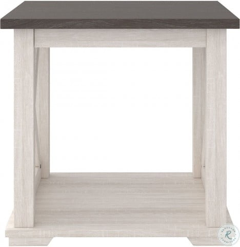 Dorrinson Black and Brown Lift Top Occasional Table Set