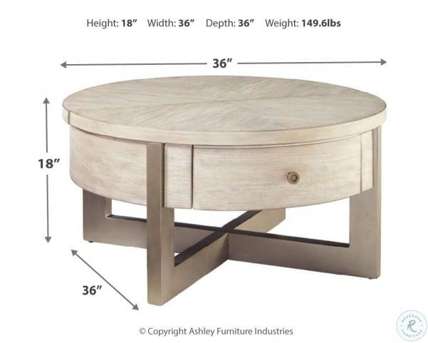 Urlander Whitewash Coffee Table Lift Top