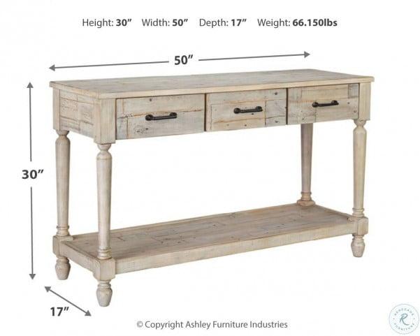 Shawnalore Whitewash Sofa Table