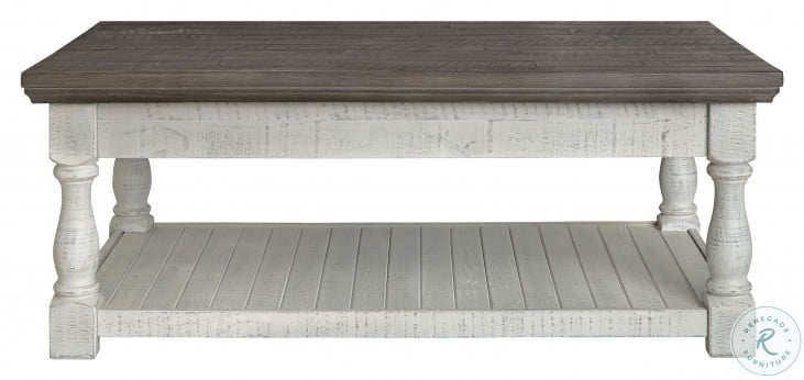 Havalance Gray And White Lift Top Coffee Table