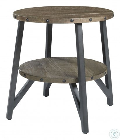Haffenburg Medium Brown End Table