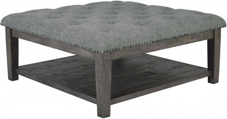 Borlofield Dark Gray Ottoman Cocktail Table