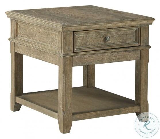 Janismore Grayish Brown End Table