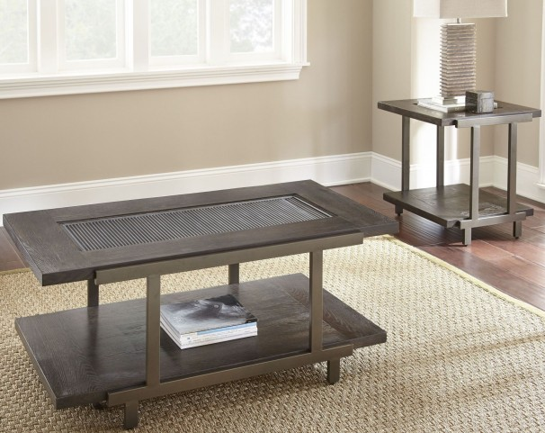 Terrell Smoky Brown Castered Occasional Table Set