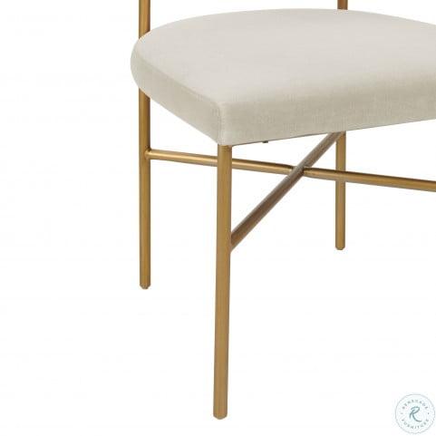 Kim Cream Performance Velvet Chair