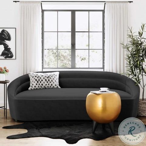 Ellison Black Velvet Sofa