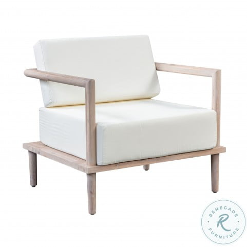Emerson Cream Outdoor Lounge Chair
