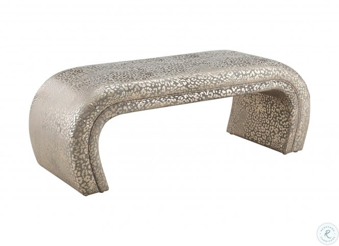 Kenya Gilded Leopard Bench