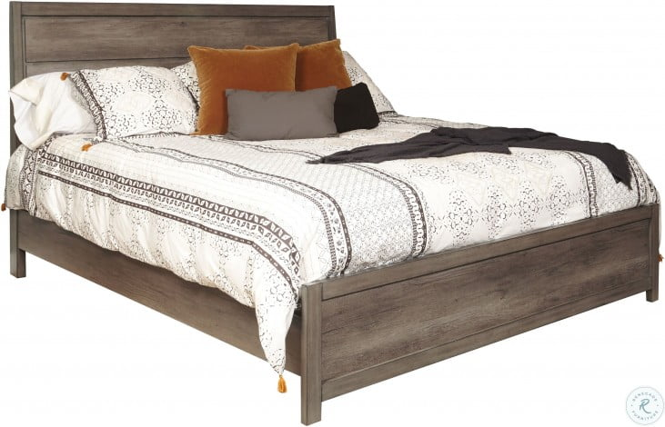Hanover Square Elm Brown King Sleigh Bed