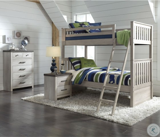 Riverwood Gray Twin Over Twin Storage Bunk Bed