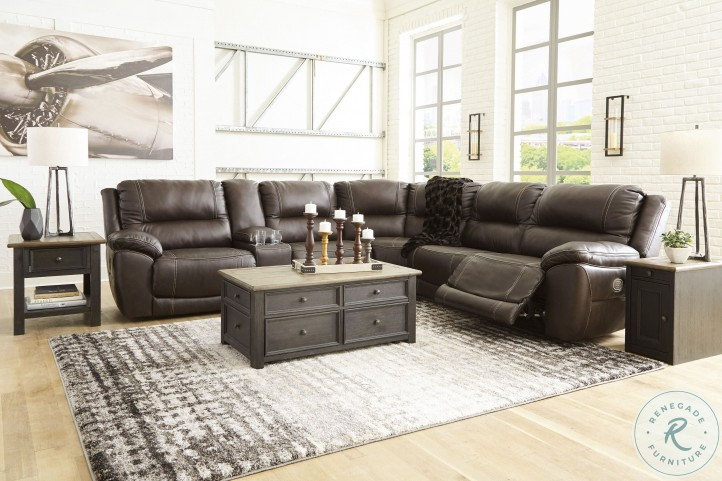 Dunleith Chocolate LAF Power Reclining Sectional