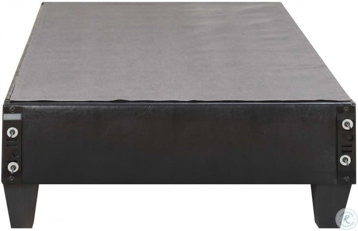Abby Black Twin Upholstered Platform Bed