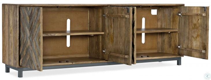 Medium Wood Door Entertainment Console Table