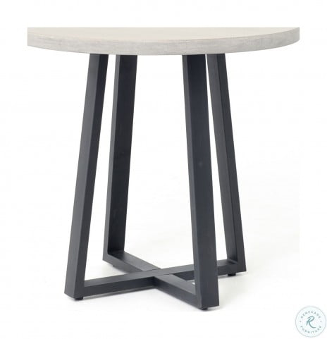 """Constantine Black Cyrus Round 32"""" Outdoor Dining Table"""