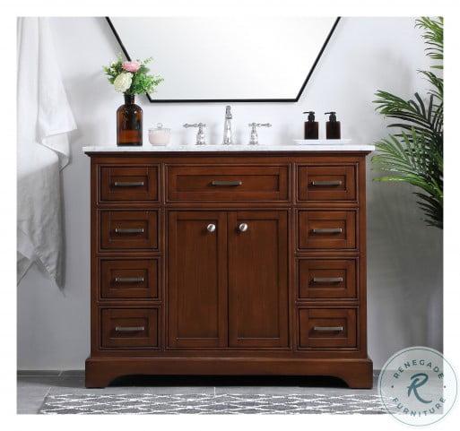 """Americana Teak 42"""" Single Bathroom Vanity Set"""