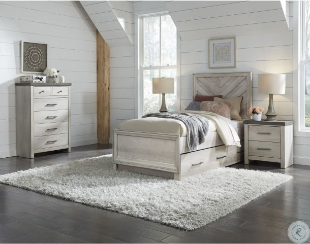 Riverwood Gray Full Panel Bed With Trundle