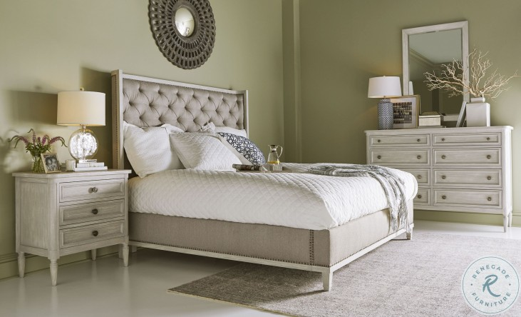 Artiste Chippy Gray Anna Flint Upholstered Panel Bedroom Set