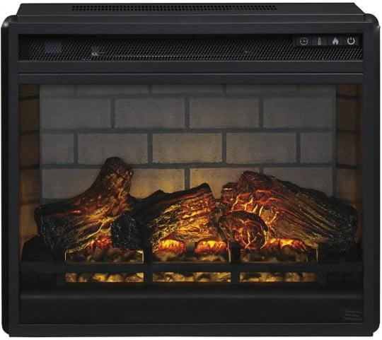 Black Infrared Fireplace Insert