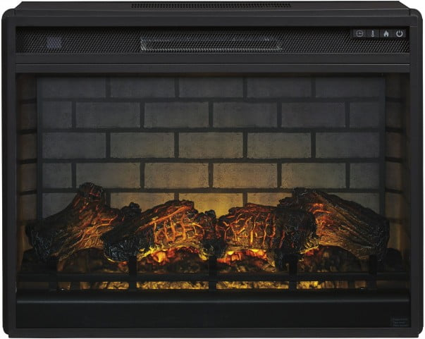 Black Electric Infrared Fireplace Insert