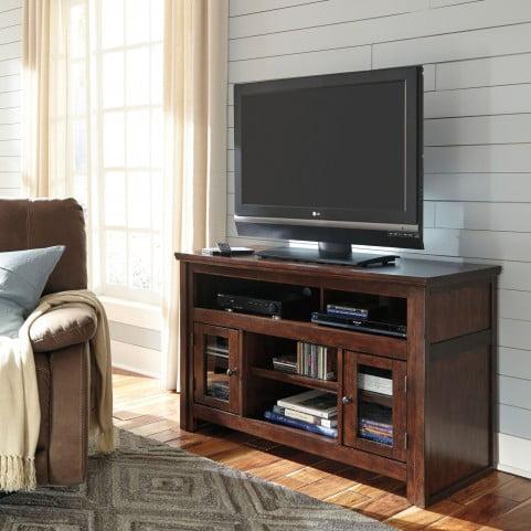 Harpan Reddish Brown Medium TV Stand