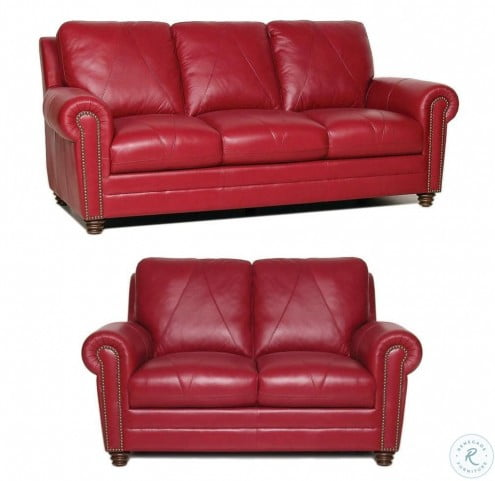 Sara Cherry Italian Leather Living Room Set