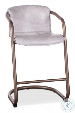Chiavari Vintage White Leather Counter Height Stool Set Of 2
