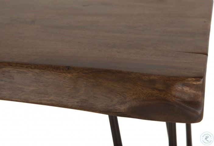 Grandby Natural Acacia Live Edge Rectangular Side Table