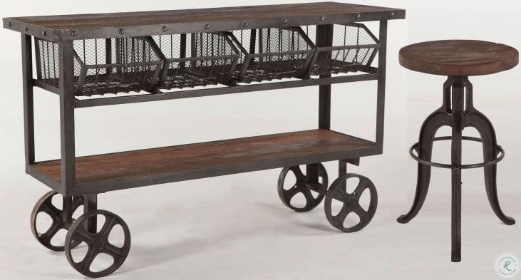 "Paxton Reclaimed Teak 60"" Bar Cart"