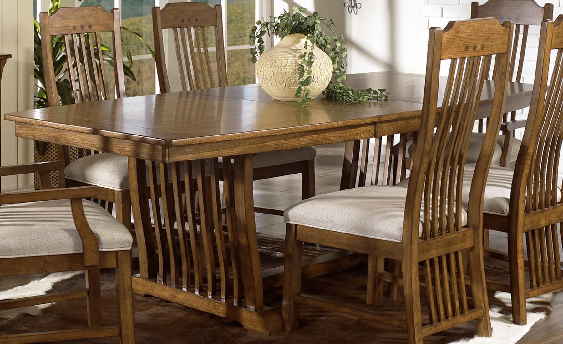 Dining Sets Style Craftsman Mission - AxSoris.