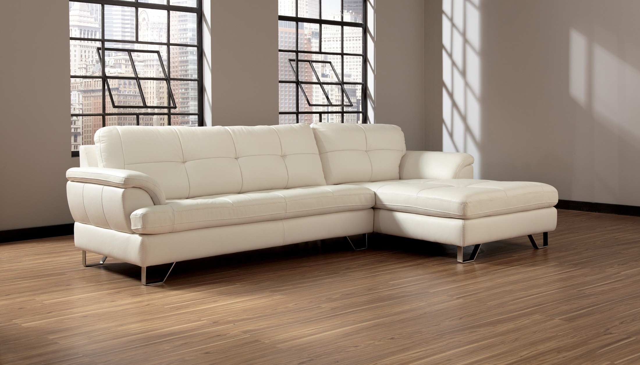 Gunter Brilliant White Sectional, U81300-55-17, Signature Design