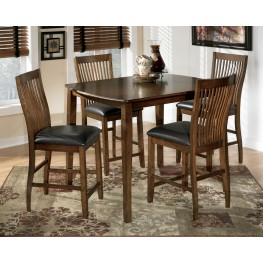 Stuman Rectangular Dining Room Counter Table Set