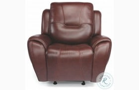 Trip Brown Leather Power Gliding Recliner With Power Headrest