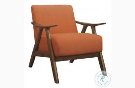 Damala Orange Accent Chair